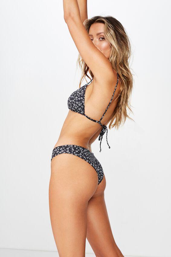 Byron V Front Bikini Bottom, WENDY DITSY BLACK