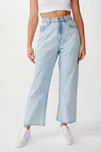 Wide Leg Jean, BLEACH BLUE WASH