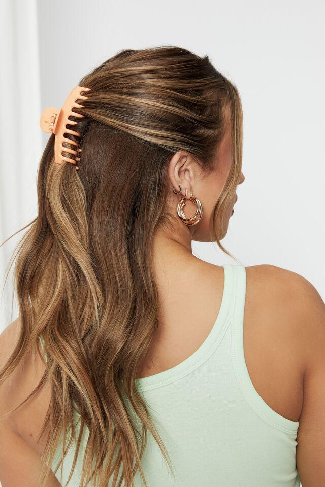 Melissa 2 Pack Hair Claw, SUNBURST/SUNRISE ORANGE
