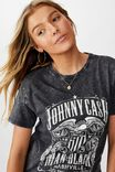 The Kendall Graphic Tee, ACID WASH BLACK/LCN MT JOHNNY CASH MAN IN BLACK