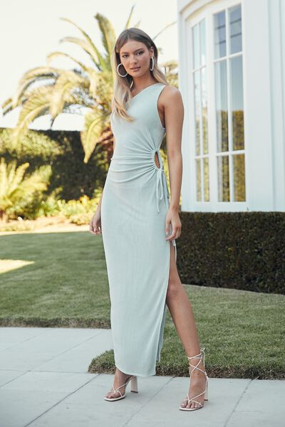 Tiffany One Shoulder Maxi Dress, SEAGLASS