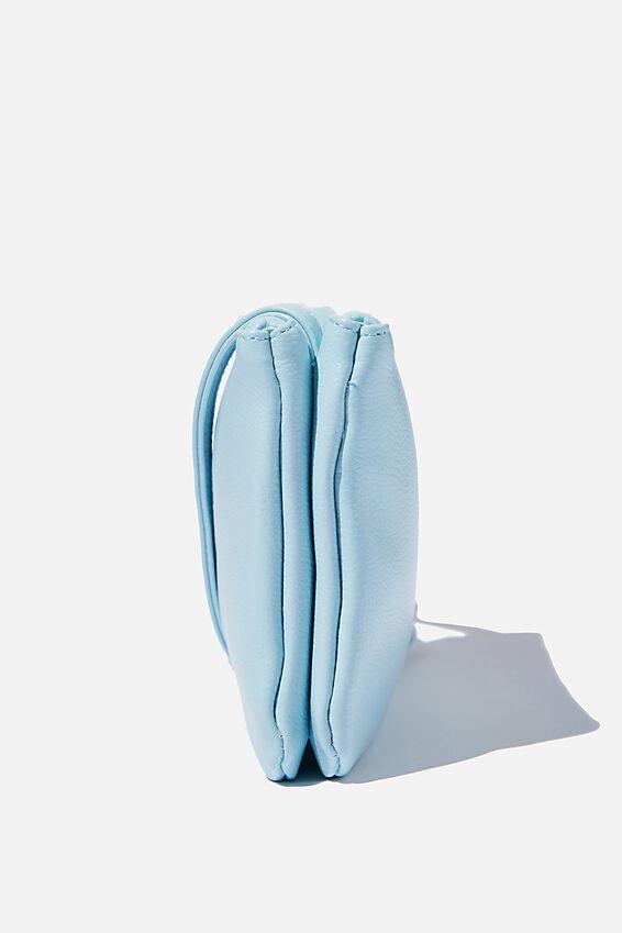 Personalised Eliza Double Zip Bag, ICE BLUE PEBBLE