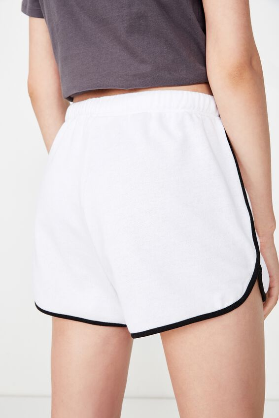 Emma Sweat Short, WHITE/BLACK