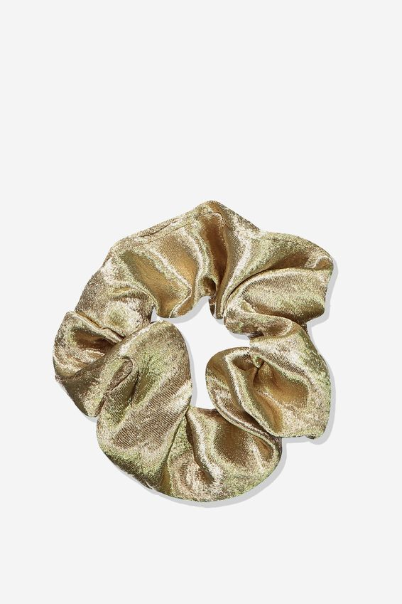 Satin Scrunchie, GOLD