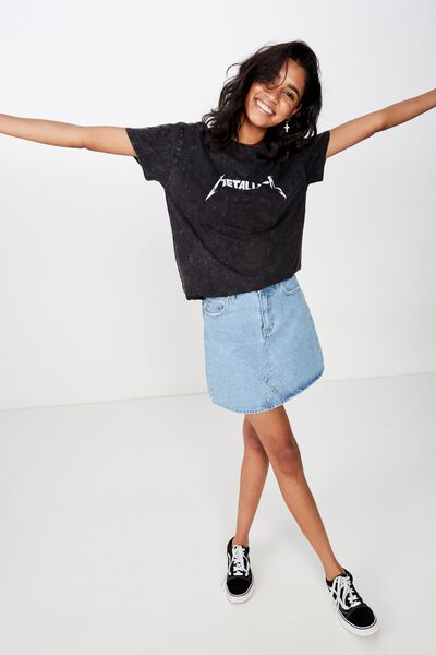 The Kendall Graphic Tee, WASHED BLACK/METALLICA