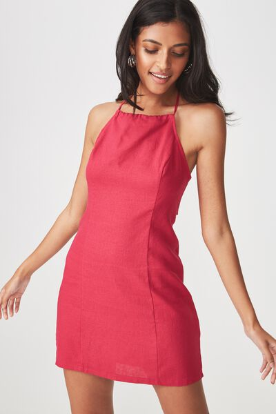 Halter Neck Dress, SUMMER BERRY