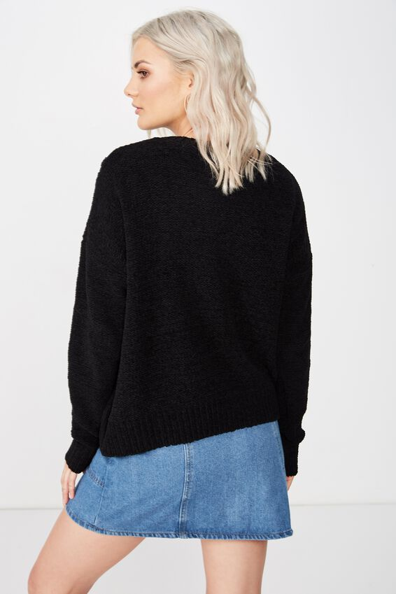 Tilly Cable Knit, BLACK