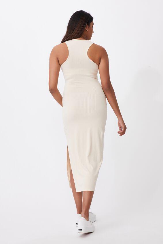 Brynn Rib Maxi Dress, PEARL