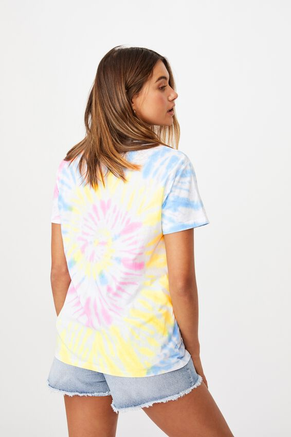Lola Printed Longline T Shirt, CIRCLE TIE DYE/LOVE THIS FOR ME