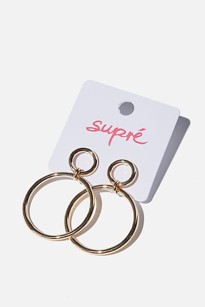 Kayla Hoop Earrings, GOLD