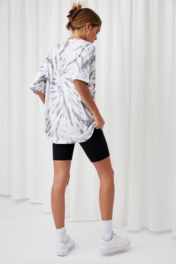 Oversized Rolling Stones Tie Dye T Shirt, SWIRL TIE DYE (WHT/GRY)/LCN BRA ROLLING STONE