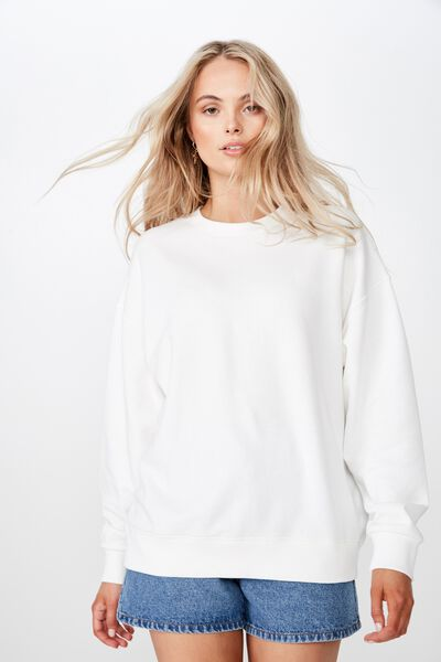 Sia Crew Neck Sweat, WINTER WHITE