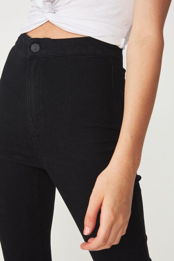Short Super Skinny Sky High Jean, TRUE BLACK
