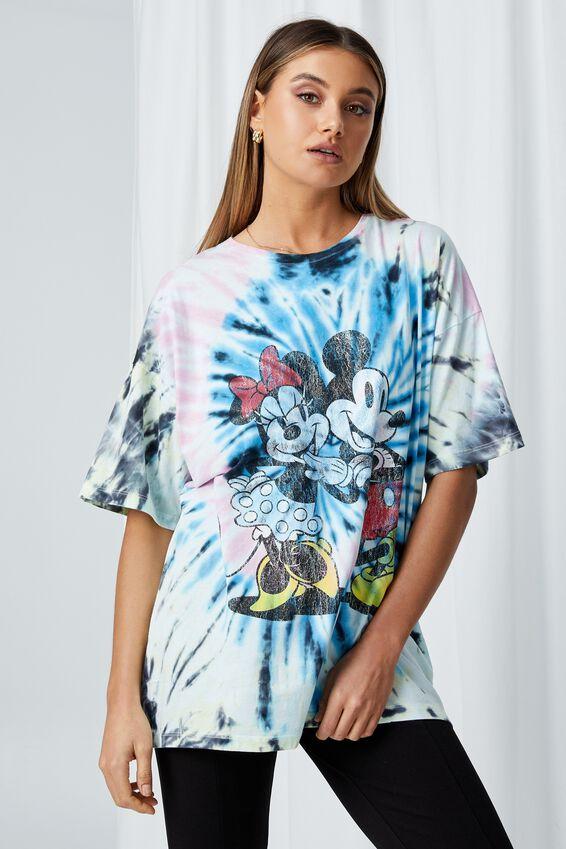 Oversized Mickey Tie Dye T Shirt, MULTI TIE DYE/LCN DIS MICKEY MINNIE
