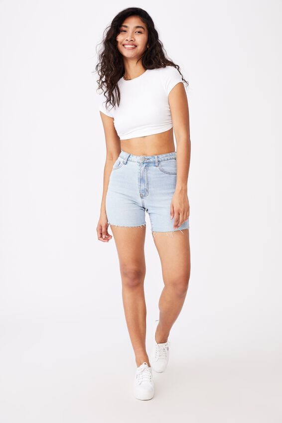 Victoria Backless Short Sleeve Top, WHITE