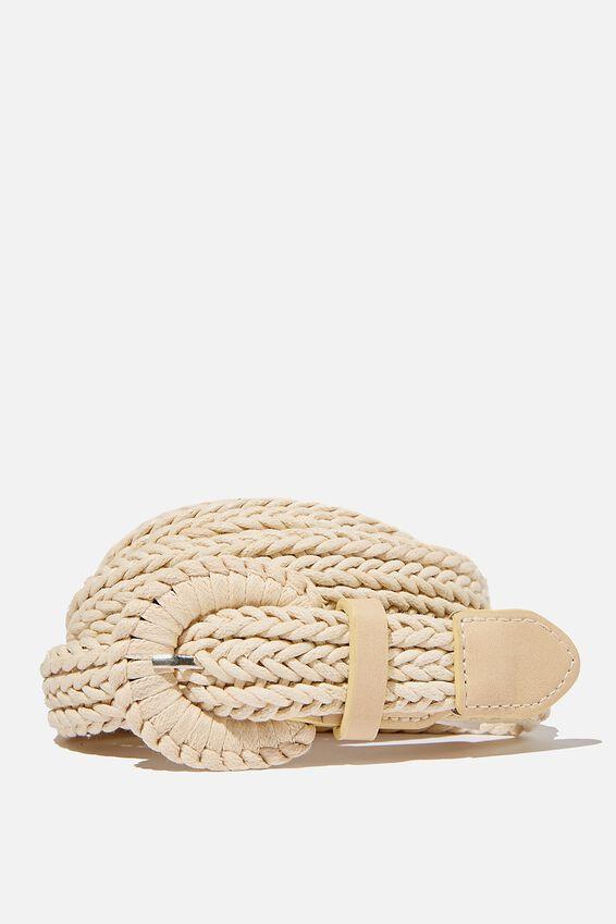 Mini Woven Belt, CREAM