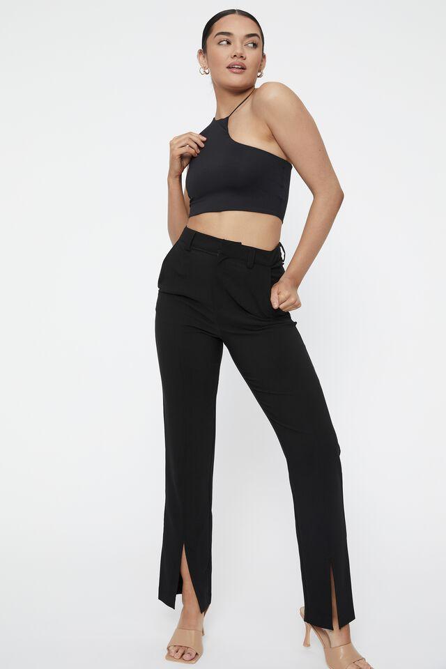 Audrina Asymmetric Top, BLACK