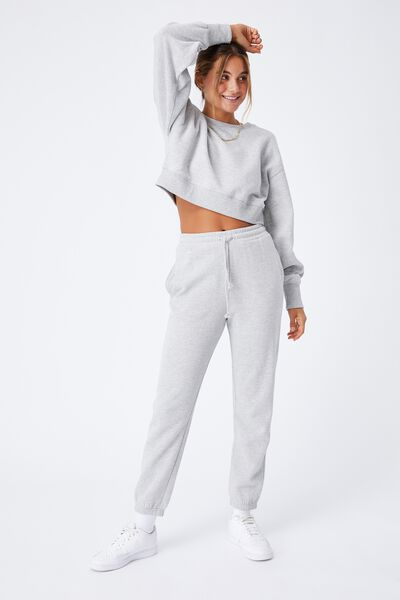 Nia Classic Track Pant, GREY MARLE