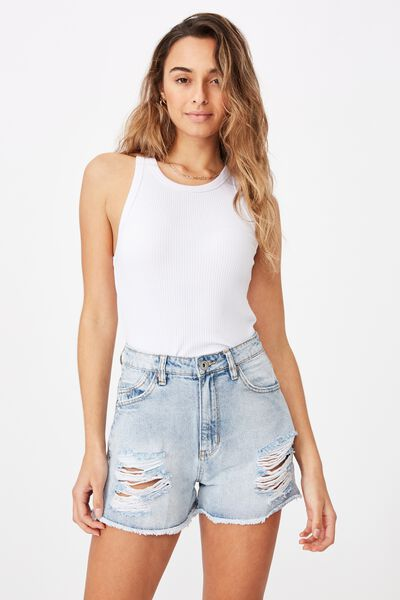 Venice Mom Denim Short, CALI BLUE