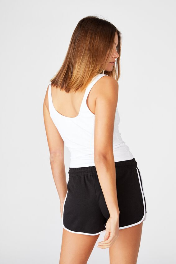 Milly Gym Short, BLACK