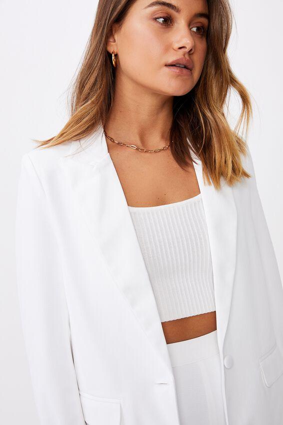 Miranda Blazer, WHITE
