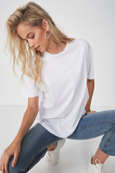 The Oversized Tee, WHITE