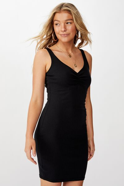 Ellie Tank Mini Dress, BLACK