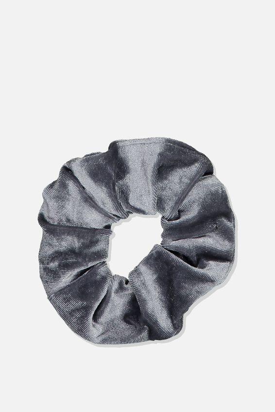 Velvet Scrunchie, PLUSH GREY