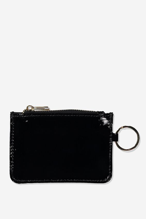 Harper Mini Purse, BLACK PATENT