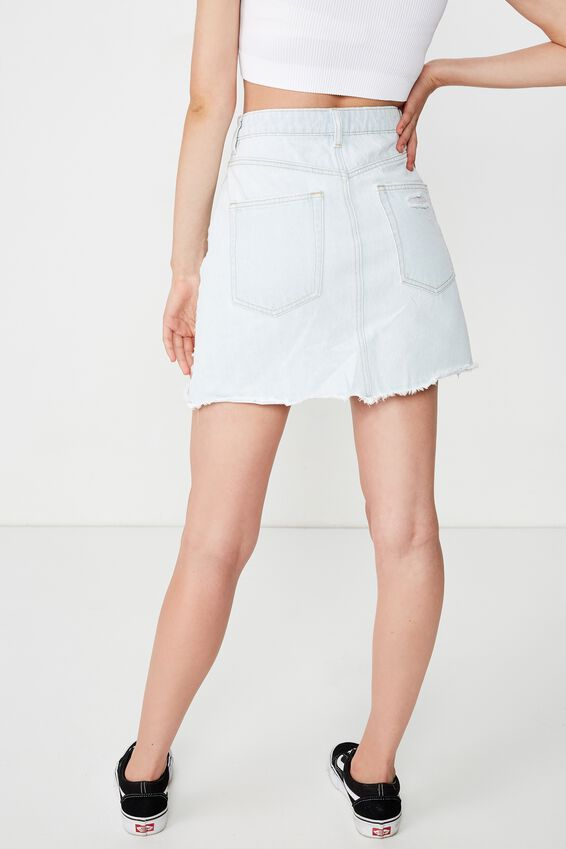 The Blair Aline Denim Skirt, 70S VINTAGE BLEACH