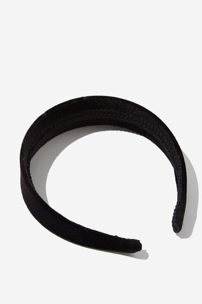 Blair Velvet Headband, BLACK