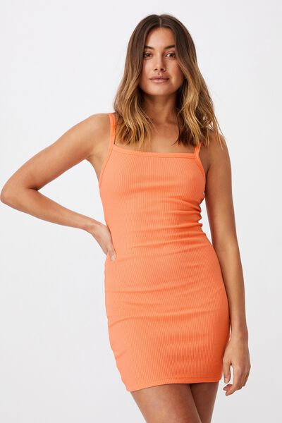 Emery Rib Mini Dress, PEACH PINK