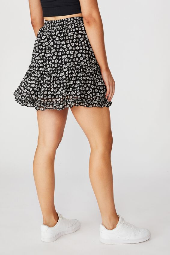 Delilah Tiered Mini Skirt, GRETA FLORAL