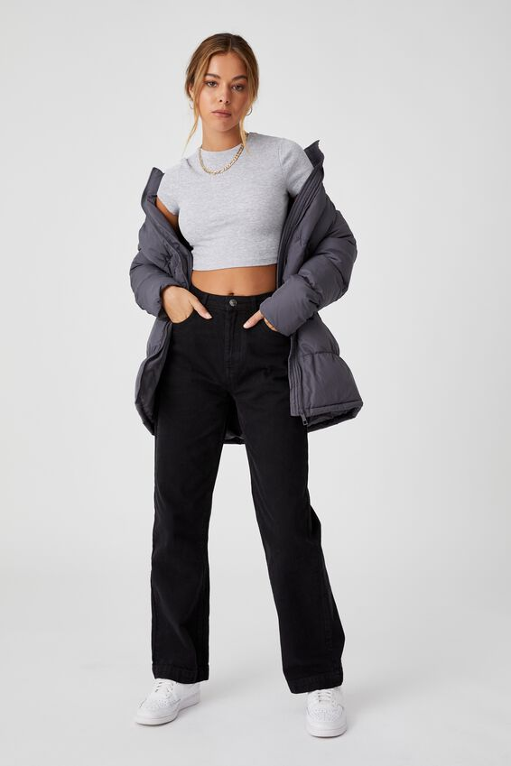The Long Feel-Good Puffer Jacket, JET GREY