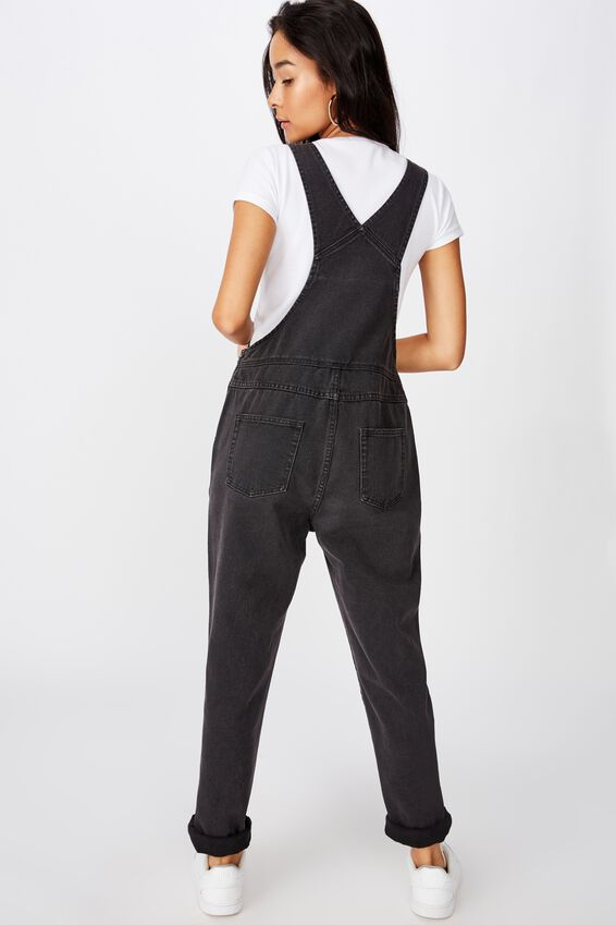 Denim Overall, WASHED BLACK