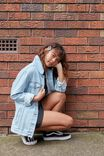 Vintage Boyfriend Denim Jacket, SUMMER BLEACH BLUE