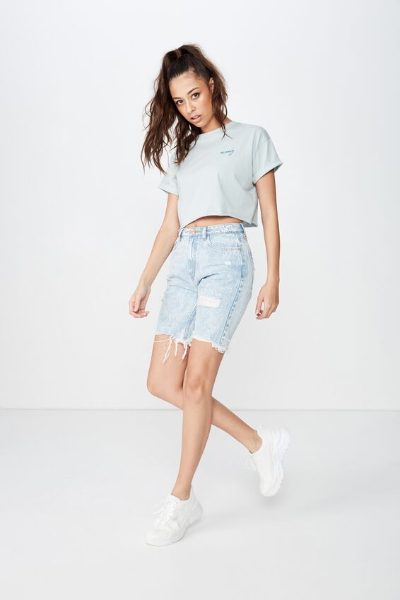 Tamara Graphic Crop Tee, SNOW GUM/MOODY