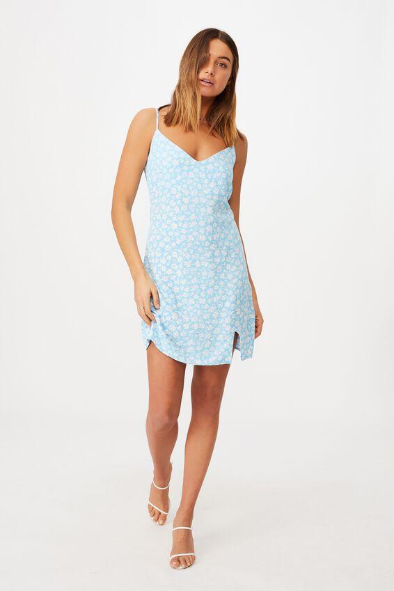 Bella Slip Dress, HALLEY FLORAL BLUE