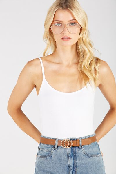 Thin Strap Cami, WHITE
