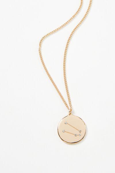 Horoscope Necklace, TAURUS/GOLD