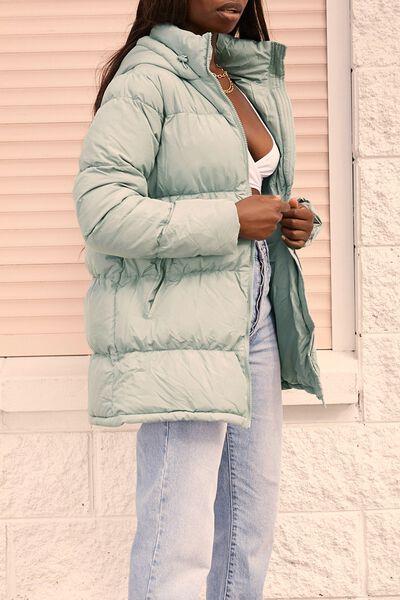 Joanne Mid Length Puffer Jacket, SOFT MOSS