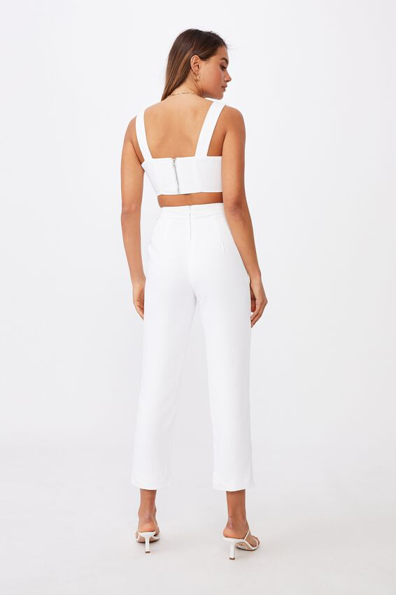 Stevie Tailored Pant, WHITE