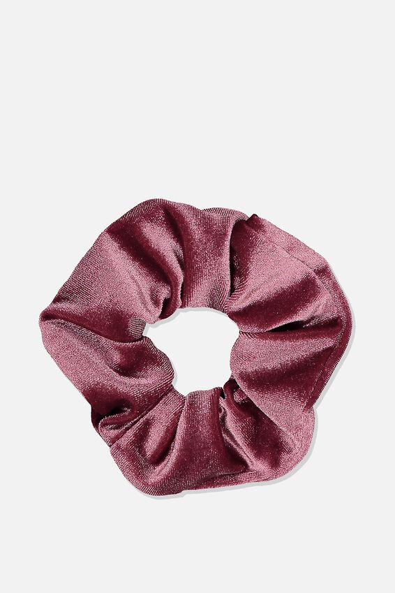 Scrunchie, PLUSH ANTIQUE ROSE