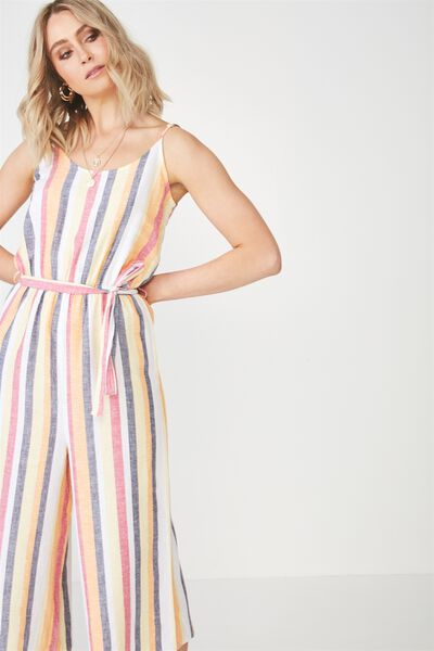 Strappy Jumpsuit, SUNRISE STRIPE