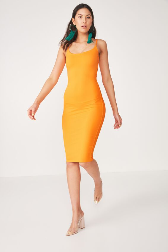 Party Thin Strap Midi Dress, MANGO