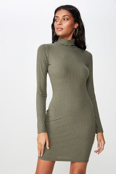 80e89145da9 Kylie Roll Neck Rib Dress