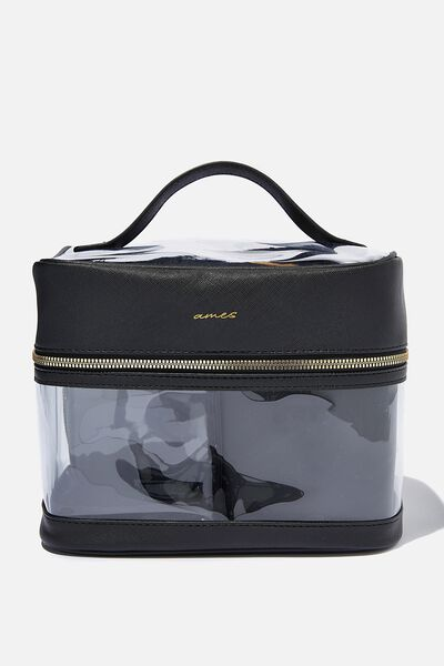 Personalised Clear Multi Case, BLACK TEXTURE