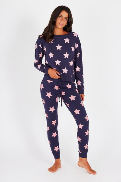 Printed Sleep Pant, NAVY STARS