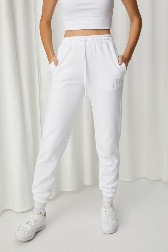 Personalised Nia Classic Track Pant, WHITE