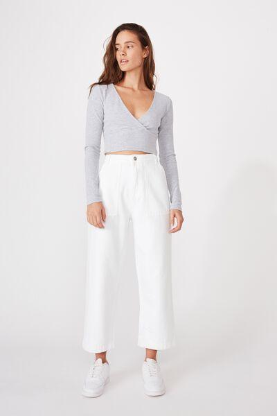 Wide Leg Jean, WHITE